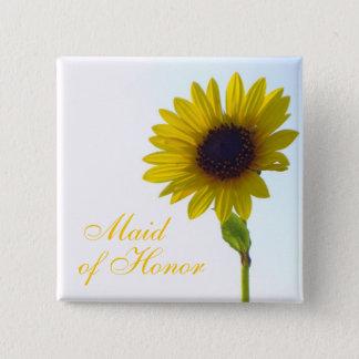 Sunflower Maid of Honor Pin