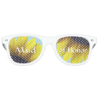 Sunflower Maid of Honor Retro Sunglasses