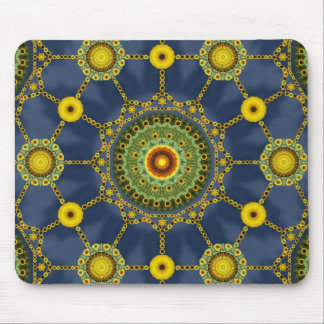 Sunflower Mandala Array Mousepad