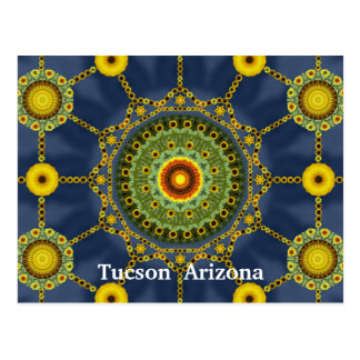 Sunflower Mandala Array Postcard