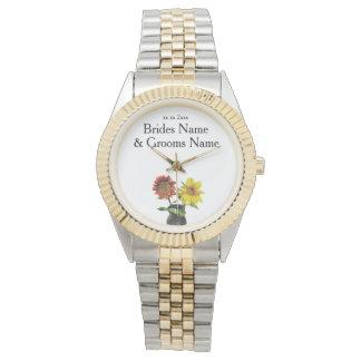 Sunflower Modern Simple Elegant WeddingIdeas Watch