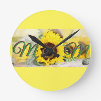 Sunflower Mom Clock
