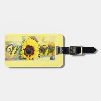 Sunflower Mom Luggage Tag