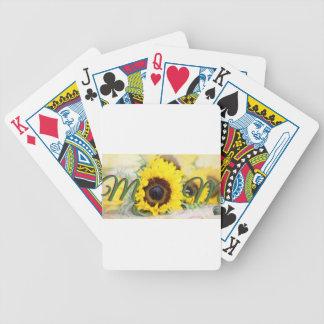 Sunflower Mom Poker Deck
