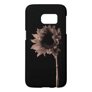 Sunflower - Monochrome Fine Art Photograph Samsung Galaxy S7 Case