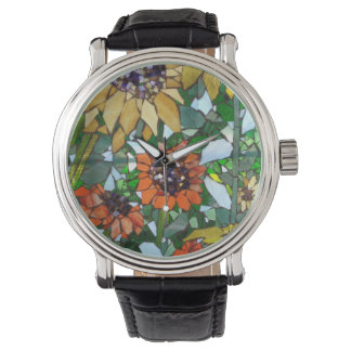 Sunflower Mosaic Watch by Willowcatdesigns
