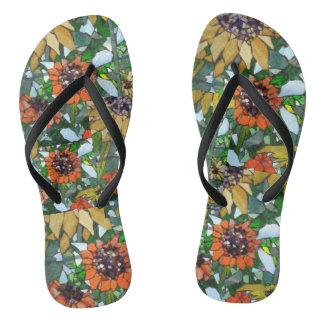 Sunflower Mosaic Women's Flip Flops