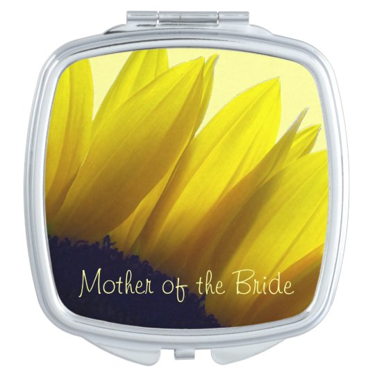 Sunflower MOTHER OF THE BRIDE Makeup Mirrors