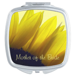 Sunflower MOTHER OF THE BRIDE Travel Mirror
