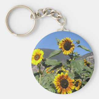 Sunflower Mountains Basic Round Button Keychain