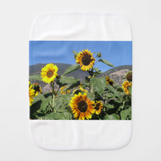 Sunflower Mountains Burp Cloth
