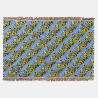 Sunflower Mountains Throw Blanket