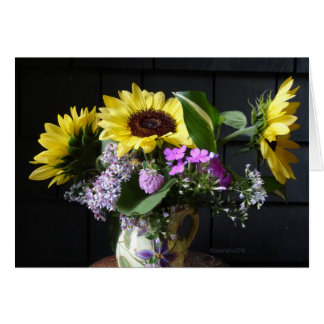 Sunflower MUG Bouquet Card