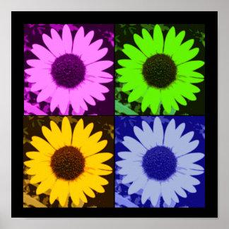 Sunflower Multi-Color Poster