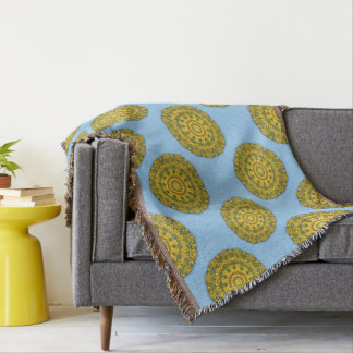 Sunflower Nature, Flower-Mandala 007 07.1 Throw