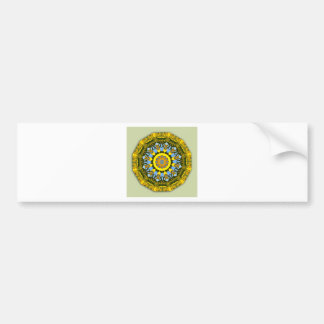 Sunflower Nature, Flower-Mandala (Blumen-Mandala) Bumper Sticker