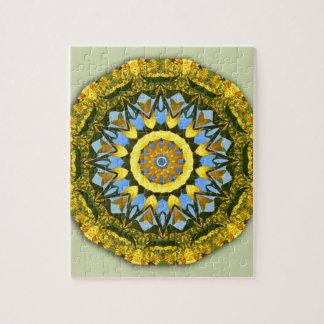 Sunflower Nature, Flower-Mandala (Blumen-Mandala) Puzzle
