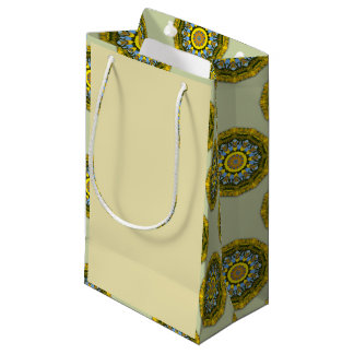 Sunflower Nature, Flower-Mandala (Blumen-Mandala) Small Gift Bag