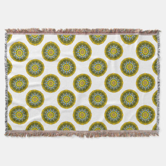 Sunflower Nature, Flower-Mandala (Blumen-Mandala) Throw Blanket