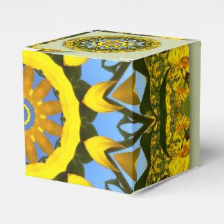Sunflower Nature, Flower-Mandala Favor Box