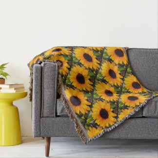 Sunflower Nature's Beauty 4My Cutie Throw Blanket