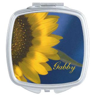Sunflower on Blue Wedding Compact Mirror