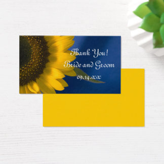 Sunflower on Blue Wedding Thank You Favor Tags