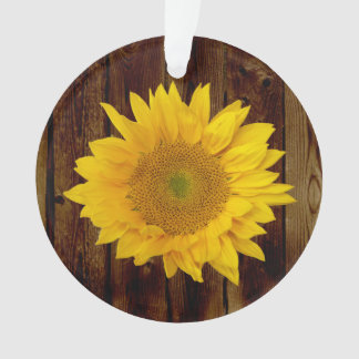Sunflower on Vintage Barn Wood Country