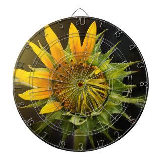 Sunflower Opening in Full Bloom Dartboard