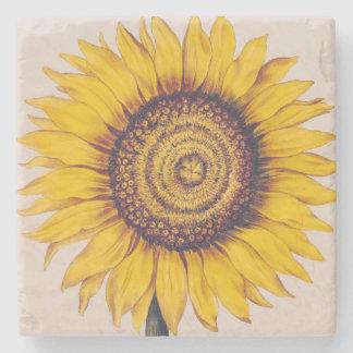 Sunflower or Helianthus Stone Coaster