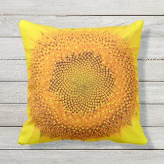 """Sunflower Outdoor Throw Pillow,16"""" x 16"""" Outdoor Pillow"""