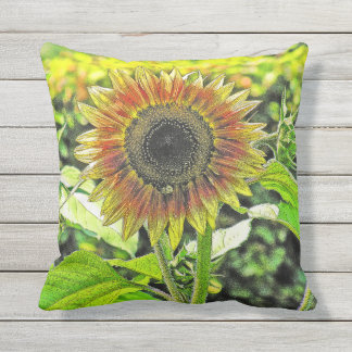 """SUNFLOWER"" OUTDOOR THROW PILLOWS"