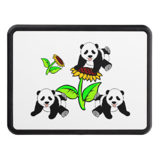 Sunflower Pandas Tow Hitch Cover