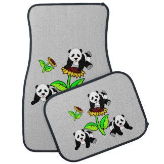 Sunflower Pandas Car Mat