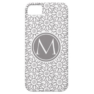 Sunflower Pattern Monogrammed iPhone 5 Covers