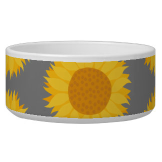 Sunflower Pattern. Yellow and Gray.