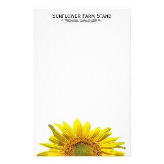 Sunflower Personal Writing Paper