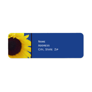 Sunflower Personalized Return Address Label