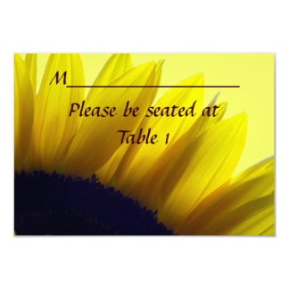 Sunflower Personalized Wedding Engagement Place Card