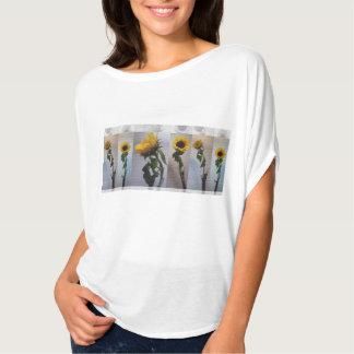 Sunflower Photo Art Collage Flower Yellow Chic T-Shirt
