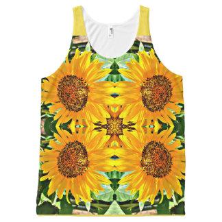 Sunflower Photo Art Unisex Tank Top