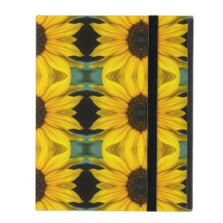 Sunflower Photo Pattern iPad Folio Case