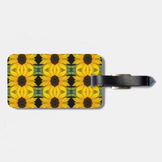 Sunflower Photo Pattern Luggage Tag