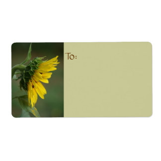 Sunflower Photography Shipping Label