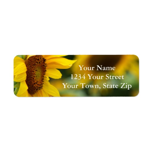 Sunflower Picture Return Address Labels