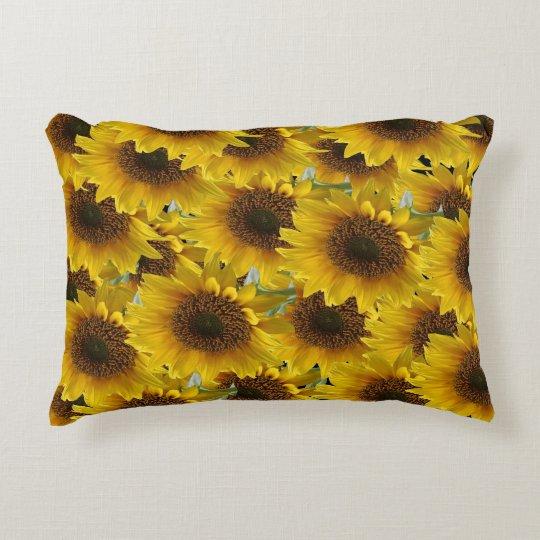 sunflower pillow for women