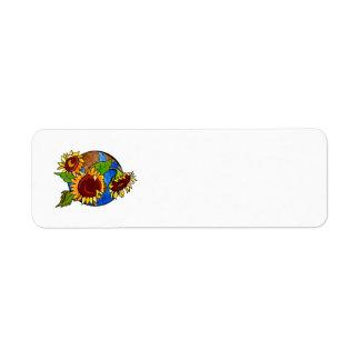 Sunflower Planet Return Address Label