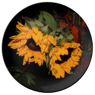 Sunflower Porcelain Plate