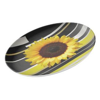 Sunflower Porcelain Serving Platter