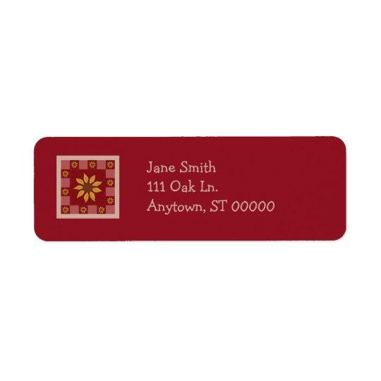 Sunflower Quilt Customizable Address Labels